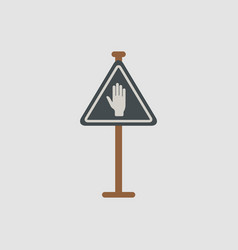 no entry hand sign traffic symbol vector image