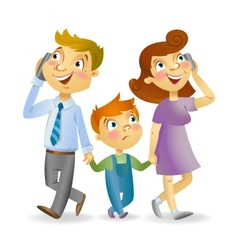 Not enough attention to the child vector image vector image