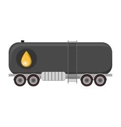 Oil cargo tank vector
