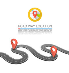 paved path on the road road way location vector image vector image