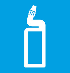 Plastic bottle of drain cleaner icon white vector