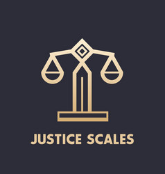 Scales icon law firm logo element vector