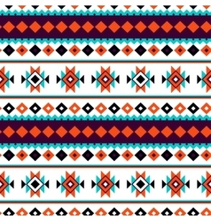 Seamless north pattern Colorful tribal vector image vector image