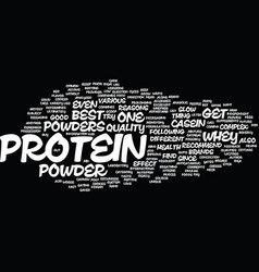 The best protein powder text background word vector