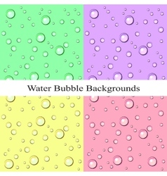 Water Bubble Backgrounds vector image vector image