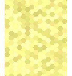 Yellow abstract hexagonal honey comb background vector