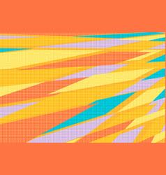 yellow orange abstract geometric background vector image