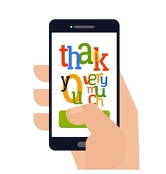 Touch thank you very much vector image
