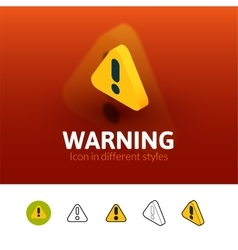 Warning icon in different style vector
