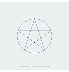 Sacred geometry pentagram vector
