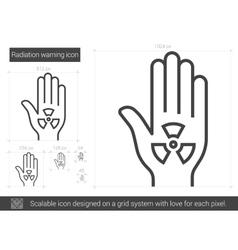 Radiation warning line icon vector