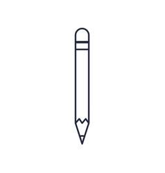 Wooden pencil write draw school supply vector