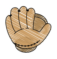 baseball glove design vector image