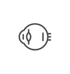 Eyeball line icon vector