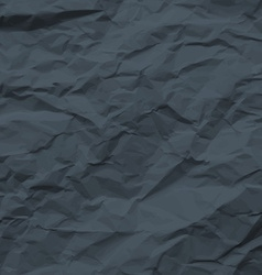 Dark texture of crumpled paper vector