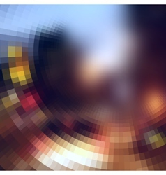 The blur effect gradually turning into faceted on vector