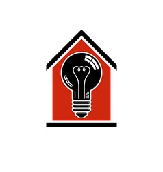 Construction idea save electricity at home 3d vector image