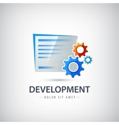 Wed design development logo icon with vector