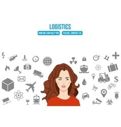 Logistics service design concept vector