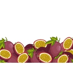 Passion fruit composition isolated vector