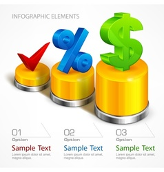 Infographic elements on chart vector image
