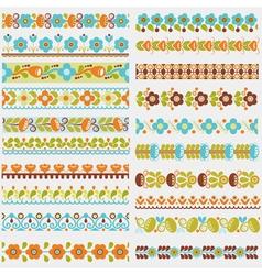 seamless borders colour vector image