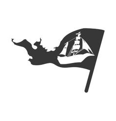 Ship flag icon transportation design vector