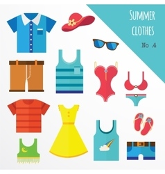 Set of clothes for men and women fashion icons vector