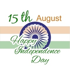 Happy independence day india flyer design for vector
