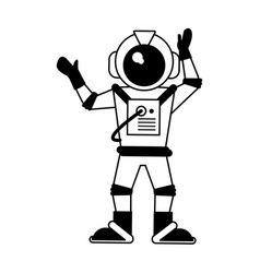 Astronaut hand up icon image vector
