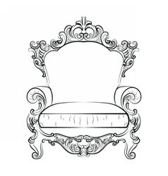 Baroque imperial luxury style vector
