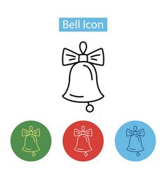 christmas bell decoration icon vector image vector image