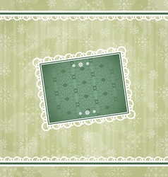 Christmas vintage frame ornamental design elements vector image vector image
