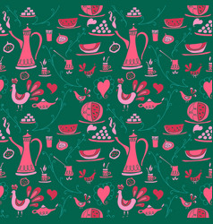 Coffee pattern arabica vector