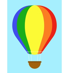 Coulourful hot-air balloon vector image