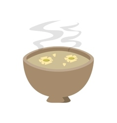 Cup of tea with jasmine flowers icon vector