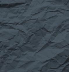 Dark texture of crumpled paper vector