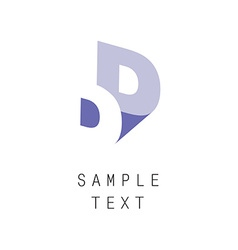 Double letter D icon vector image vector image
