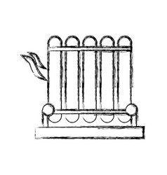 Electric grill symbol vector