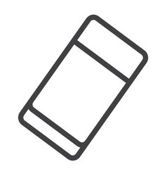 eraser line icon education and school rubber vector image