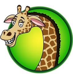 Giraffe cartoon vector image vector image