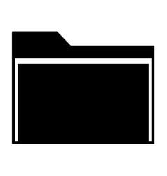 manila folder icon vector image vector image