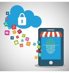 Mobile device password store online cloud secure vector