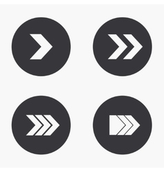 modern arrow icons set vector image vector image