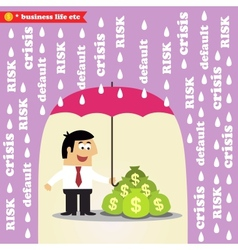 Money risk management vector