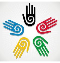 Olympics games 2012 hands vector
