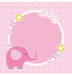 pink elephant framework vector image vector image