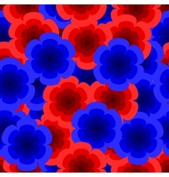 red and blue roses pattern vector image vector image