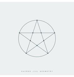 sacred geometry pentagram vector image