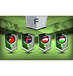 Soccer group f vector
